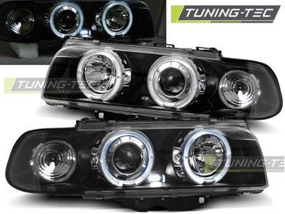 Фары передние от Tuning-Tec LED Angel Eyes Black для BMW 7 E38