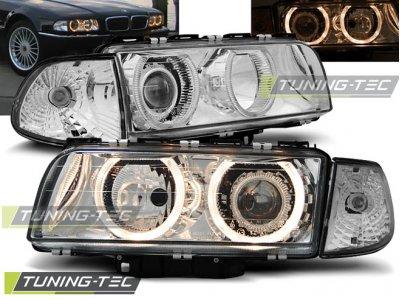 Фары передние от Tuning-Tec Angel Eyes Chrome для BMW 7 E38