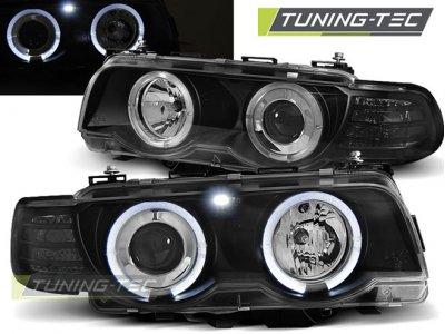 Фары передние от Tuning-Tec LED Angel Eyes Black для BMW 7 E38 рестайл