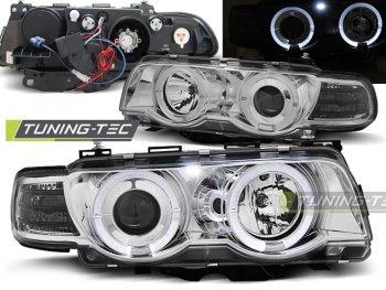 Фары передние от Tuning-Tec Angel Eyes Chrome для BMW 7 E38 рестайл XENON