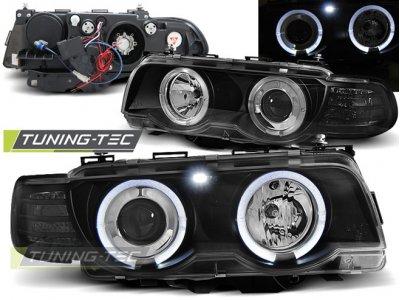 Фары передние от Tuning-Tec Angel Eyes Black для BMW 7 E38 рестайл XENON