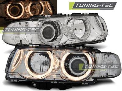 Фары передние от Tuning-Tec Angel Eyes Chrome для BMW 7 E38 рестайл