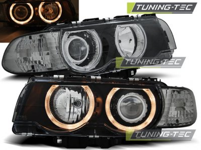 Фары передние от Tuning-Tec Angel Eyes Black для BMW 7 E38 рестайл