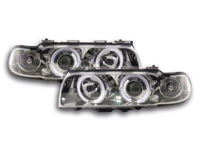 Фары передние LED Angel Eyes Chrome для BMW 7 E38
