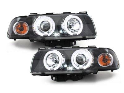 Фары передние LED Angel Eyes Black для BMW 7 E38