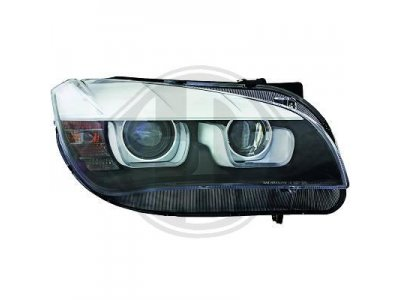 Фары передние U-Type Angel Eyes Black от HD для BMW X1 E84 XENON