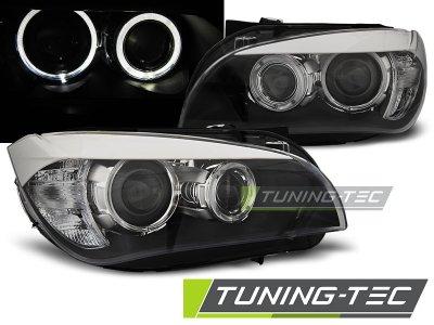 Фары передние CCFL Angel Eyes Black от Tuning-Tec для BMW X1 E84
