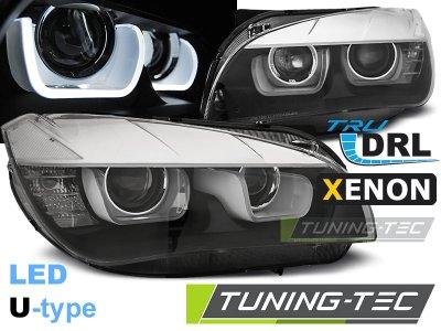 Фары передние U-Type Angel Eyes Black от Tuning-Tec для BMW X1 E84 XENON