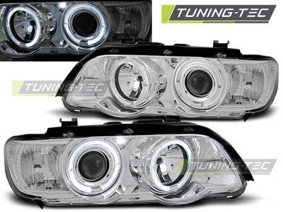 Передние фары от Tuning-Tec Angel Eyes Chrome для BMW X5 E53