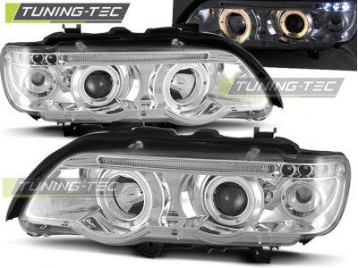 Фары передние Tuning-Tec Angel Eyes Chrome для BMW X5 E53