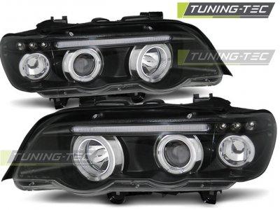 Фары передние Tuning-Tec Angel Eyes Black для BMW X5 E53