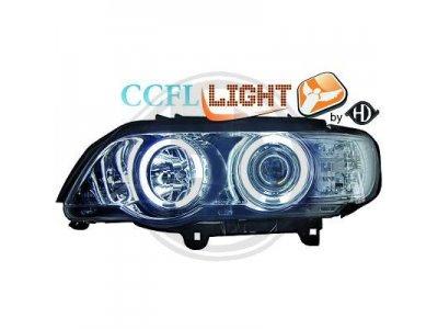 Фары передние CCFL Angel Eyes Chrome для BMW X5 E53
