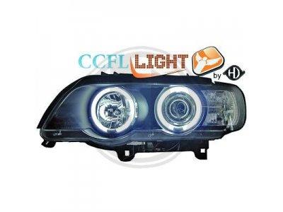 Фары передние CCFL Angel Eyes Black для BMW X5 E53