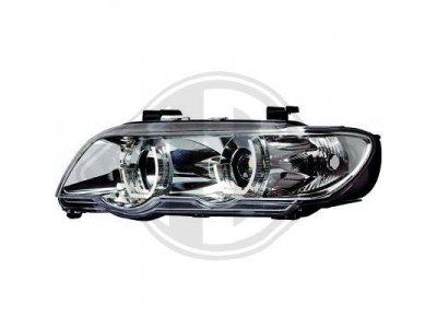 Фары передние 3D Angel Eyes Chrome для BMW X5 E53