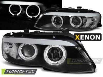 Фары передние LED Angel Eyes Black для BMW X5 E53 XENON рестайл