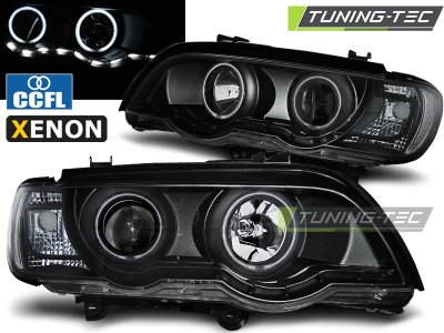 Фары передние Dayline Black для BMW X5 E53 XENON