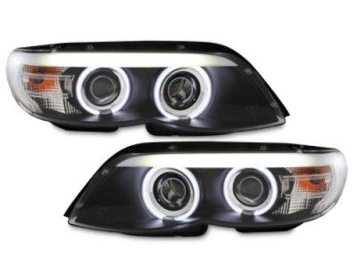 Фары передние Neon Eyes Black для BMW X5 E53 XENON рестайл