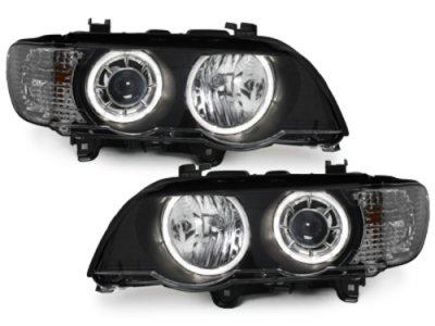 Фары передние Neon Eyes Black для BMW X5 E53 XENON