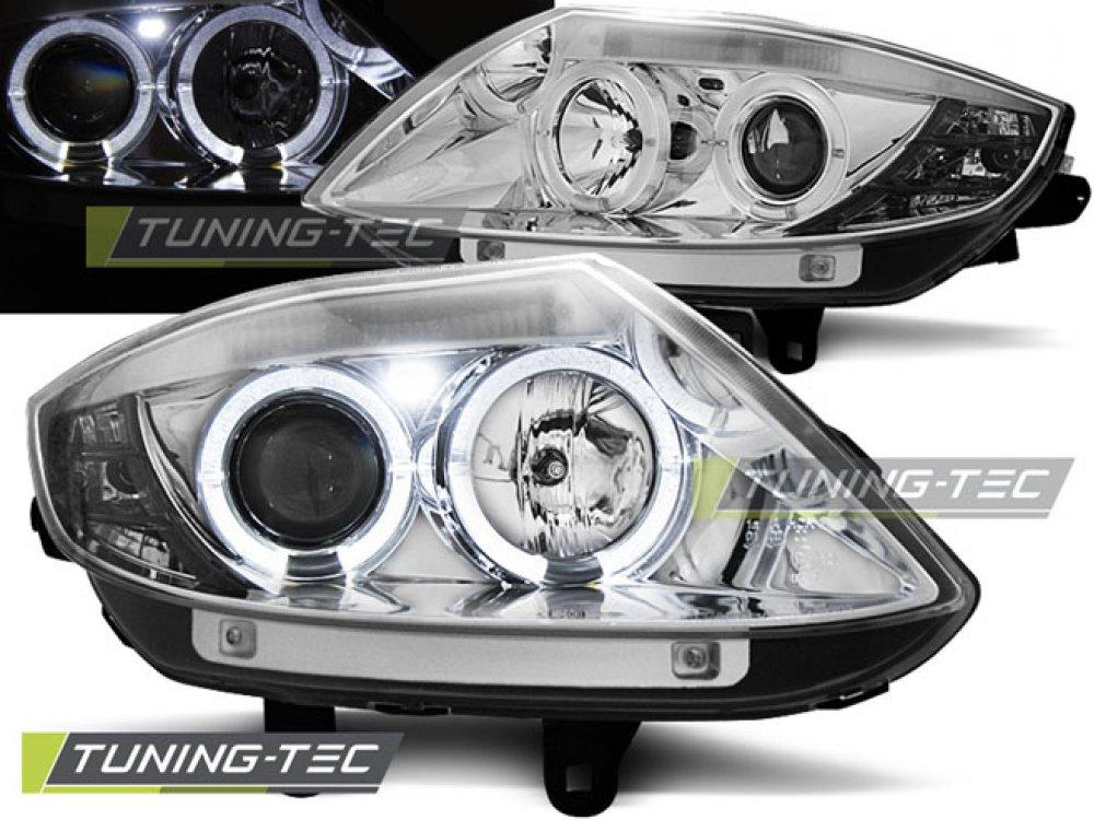 Передние фары LED Angel Eyes хром от Tuning-Tec для BMW Z4 E85