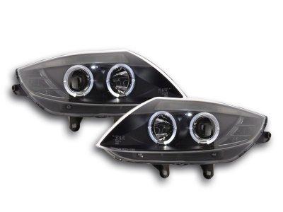 Фары передние LED Angel Eyes Black для BMW Z4 E85