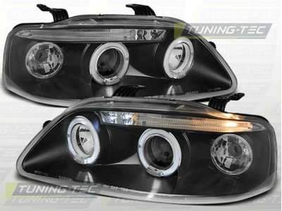 Фары передние LED Angel Eyes Black для Chevrolet Aveo I