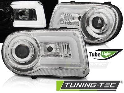 Передние фары Tube Light Chrome для Chrysler 300C