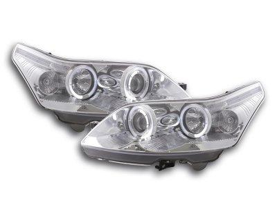 Фары передние LED Angel Eyes Chrome для Citroen C4