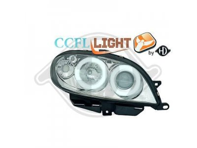 Фары передние CCFL Angel Eyes Chrome для Citroen Saxo
