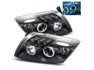 Фары передние LED Angel Eyes Black для Dodge Caliber