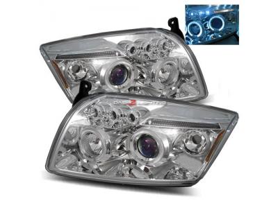 Фары передние LED Angel Eyes Chrome для Dodge Caliber