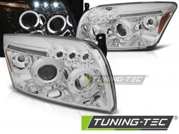 Передние фары с ангельскими глазками хром от Tuning-Tec для Dodge Caliber