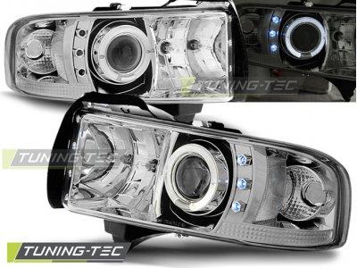 Фары передние LED Angel Eyes Chrome для Dodge Ram II