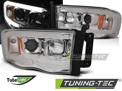 Фары передние с неоновыми ходовыми огнями хром от Tuning-Tec для Dodge Ram III