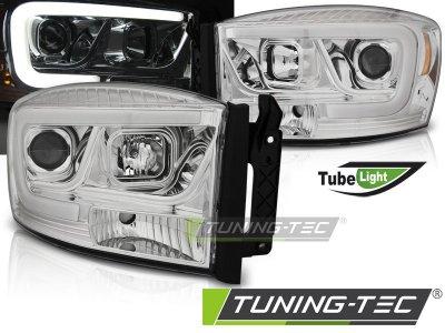 Фары передние TubeLight хром от Tuning-Tec для Dodge Ram III рестайл