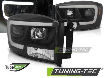 Фары передние TubeLight чёрные от Tuning-Tec для Dodge Ram III рестайл
