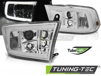 Передние фары Tube Light с ходовыми огнями хром для Dodge Ram IV