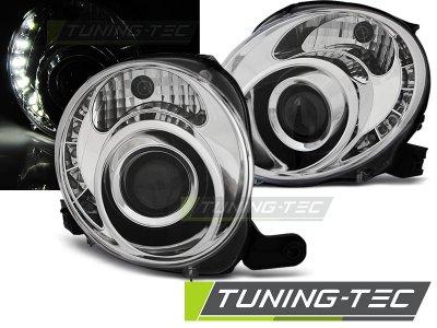 Фары передние Daylight Chrome от Tuning-Tec для Fiat 500