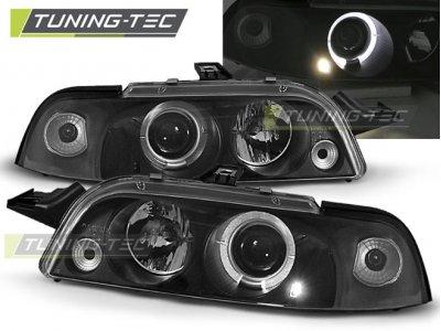 Фары передние LED Angel Eyes Black от Tuning-Tec для Fiat Punto I