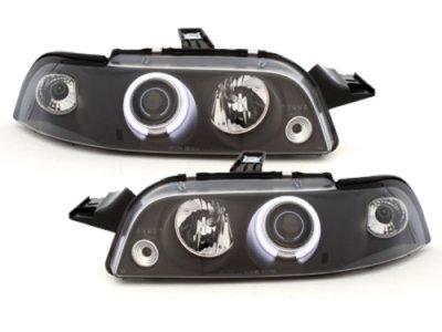 Фары передние CCFL Angel Eyes Black для Fiat Punto I