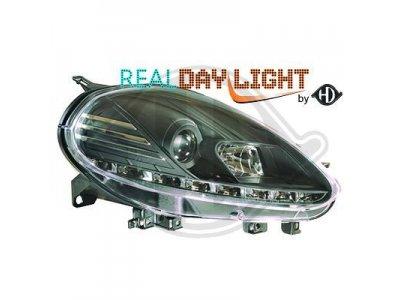 Фары передние Dayline Black для Fiat Punto III Evo