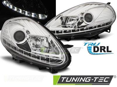 Фары передние Tru DRL Chrome от Tuning-Tec для Fiat Punto III Evo