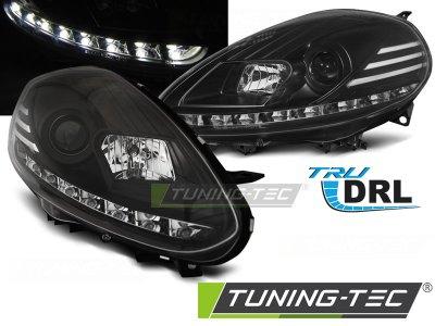 Фары передние Tru DRL Black от Tuning-Tec для Fiat Punto III Evo