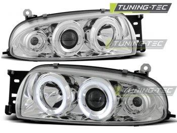 Фары передние LED Angel Eyes Chrome от Tuning-Tec для Ford Fiesta IV