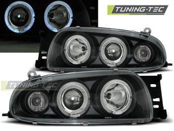 Фары передние LED Angel Eyes Black от Tuning-Tec для Ford Fiesta IV