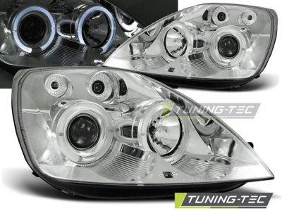 Фары передние Angel Eyes Chrome от Tuning-Tec для Ford Fiesta Mk6