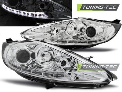 Передняя альтернативная оптика Daylight Chrome от Tuning-Tec для Ford Fiesta Mk7