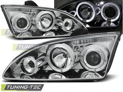 Фары передние с ангельскими глазками хром от Tuning-Tec для Ford Focus II