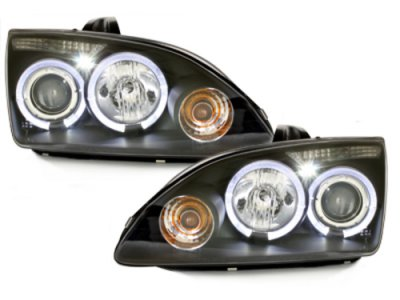 Передняя альтернативная LED Angel Eyes Black для Ford Focus II