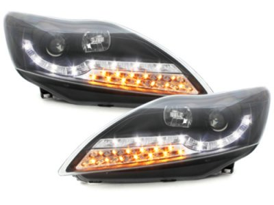 Фары передние Dayline Black  LED для Ford Focus II рестайл
