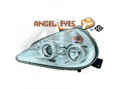 Фары передние LED Angel Eyes Chrome от HD для Ford KA I